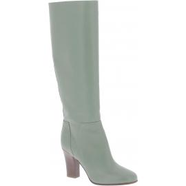 Valentino Stivali al ginocchio da donna in pelle Verde oliva