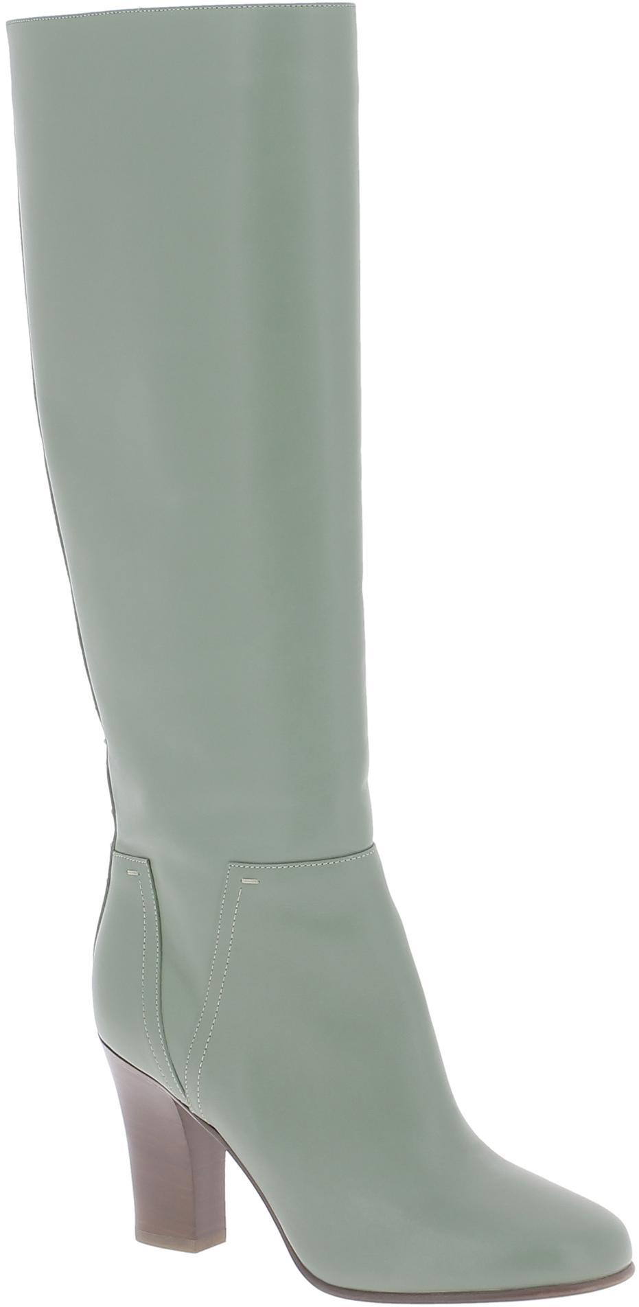 cdc8627b4c Valentino Stivali al ginocchio da donna in pelle Verde oliva ...