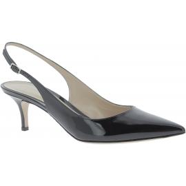 Gianvito Rossi sandali da donna in vernice nera aperti dietro