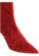 Aquazzura Stivaletti al polpaccio donna in pelle Scamosciata rosso con tacco a spillo
