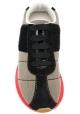 Marni Sneakers donna in tessuto beige con suola alta in gomma rossa