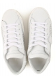 Philippe Model Sneakers donna in pelle bianca fantasia perle argentate