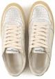 Philippe Model Sneakers donna in pelle Platino laminata con suola vintage