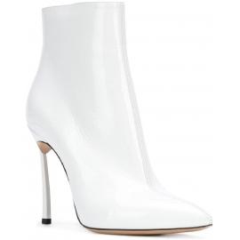 Casadei Stivaletti alla caviglia donna in vernice bianco con tacco a spillo