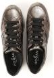 Hogan Sneakers donna in pelle color oro con dettagli neri