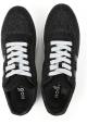 Hogan Sneakers donna in pelle e tessuto nero effetto glitter
