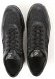 Hogan Sneakers donna in pelle nera e tessuto glitterato