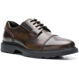 Hogan H393 MEMORY scarpe Stringate uomo in pelle Marrone medio