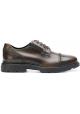 Hogan H393 MEMORY scarpe Stringate uomo in pelle Marrone medio