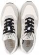 Hogan H383 RUNNING Sneakers uomo in tessuto bianco e pelle scamosciata grigia