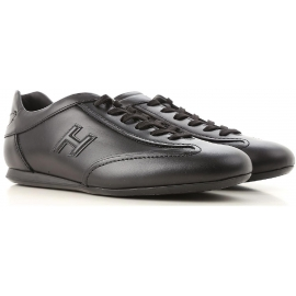 Hogan OLYMPIA SLASH Sneakers bassa da uomo in pelle nera