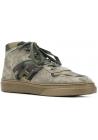 Hogan H365 Sneakers alte uomo in pelle nabuk tessuto Mimetico