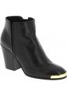 Zanotti stivaletti alla caviglia in pelle nera dettagli color oro