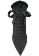 Dolce&Gabbana Stivaletti con tacco a spillo da donna in tessuto tecnico nero