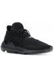 Y-3 Sneakers stringate da uomo in tessuto tecnico nero con suola in gomma