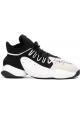 Y-3 Sneakers da uomo in tessuto tecnico nero/bianco con suola in gomma bianca
