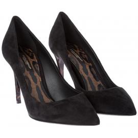 Dolce&Gabbana Scarpe decolletè stiletto da donna in pelle Scamosciata nera