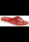 Prada Sandali Infradito slip-on da donna in vernice lucida e pelle rosso vivo