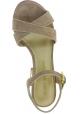 Stuart Weitzman Sandali con tacco alto da donna in pelle Scamosciata beige