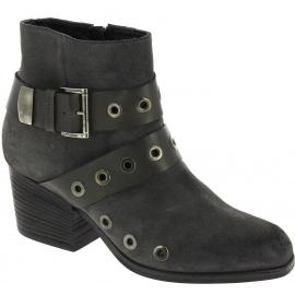 Vic Matié Stivaletti alla caviglia borchiati donna in pelle nabuk grigio scuro