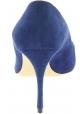 Miu Miu Decoltè a punta con tacco a spillo da donna in pelle scamosciata blu