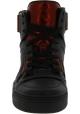 Gucci Sneakers alte con lacci da donna in pelle nera con dettagli rossi