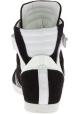Barbara Bui Sneakers alte con lacci da donna in pelle Scamosciata nera bianca