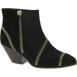 Zanotti Stivaletti alla caviglia tacco western donna camoscio nero