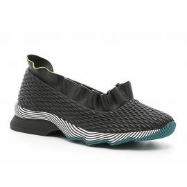 Sneakers slip-on Fendi donna in pelle nero