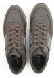 Sneakers Hogan uomo in pelle e tessuto marrone e grigio