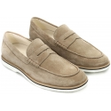 Mocassino Hogan Club H262 in pelle scamosciato beige
