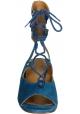 Sandali tacco zeppa Chloé in camoscio Oltremare