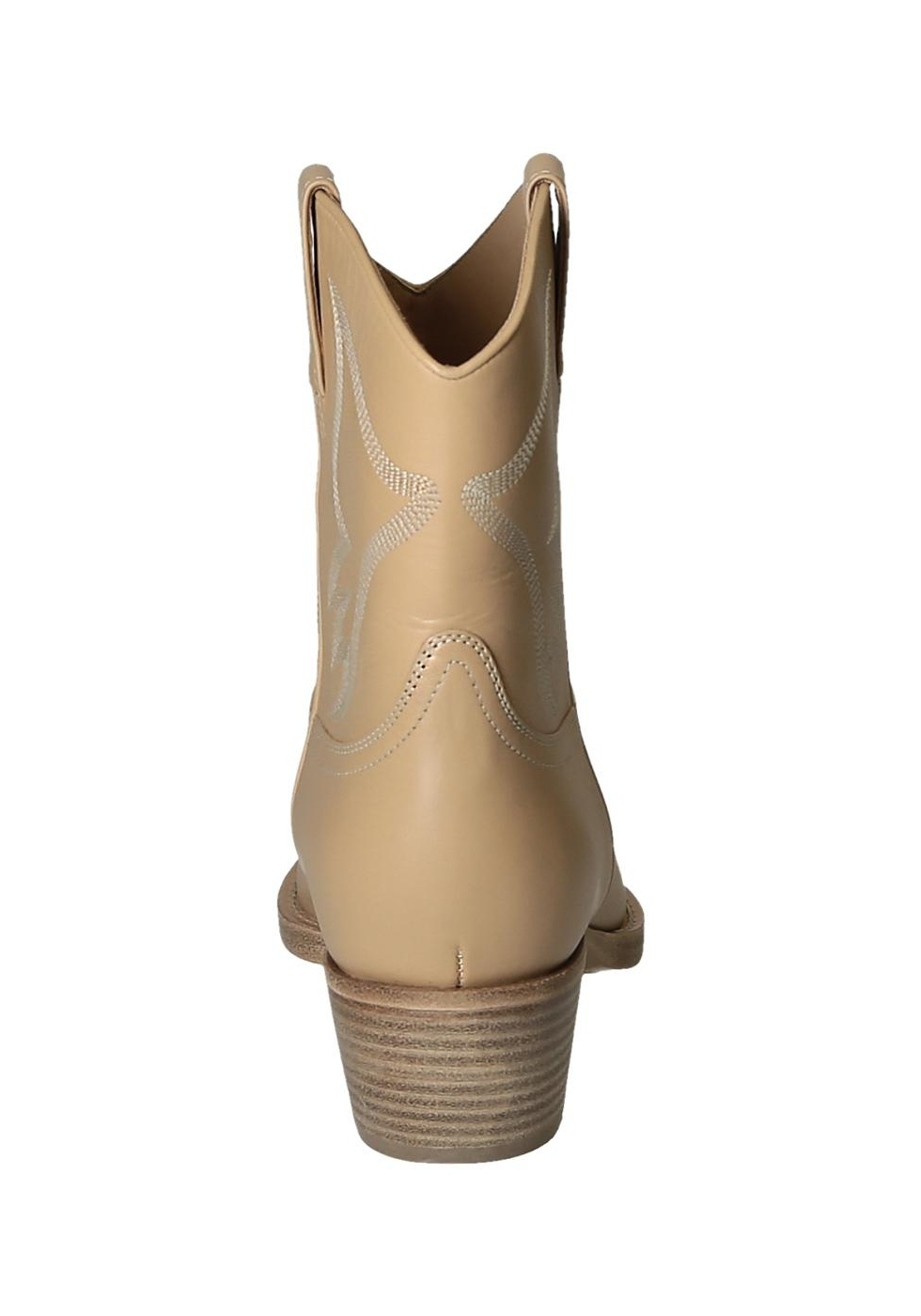 Stivaletti western Valentino donna in pelle Nudo italian-boutique beige Pelle Mejor Precio Barato Vendedor Las Labores De Saneamiento En Línea Oficial EWkBD