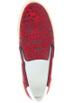 Saint Laurent Scarpe slip-on senza lacci da donna leopardate in pelle rossa