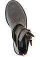 Steve Madden Stivaletti alla caviglia da donna in pelle marrone scuro con zip