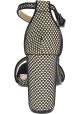 Steve Madden Sandali da donna con tacco alto e cinturino in tessuto nero