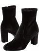 Steve Madden Stivaletti alla caviglia con tacco da donna in velluto nero